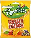 12 X ROWNTREES FRUIT GUM BAG £1 120g   12 PACK BUNDLE