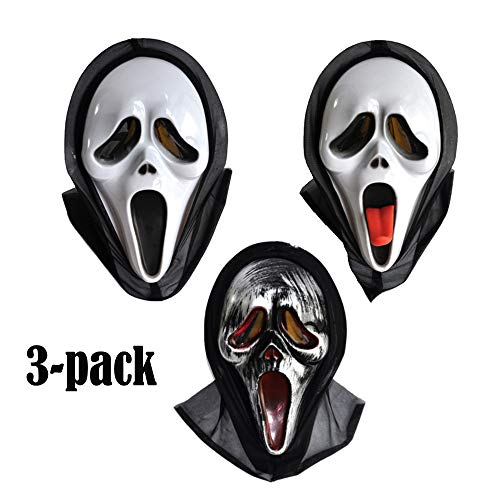 XULONG Halloween-Maske, Sehr Beängstigend Geeignet Für Erwachsene Oder Kinder, Weißer Geist ()