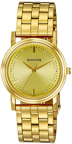 51TsMFdsiNL - Sonata ND1141YM22 Gold Mens watch