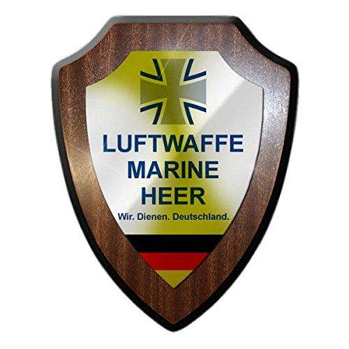Copytec Bundeswehr Luftwaffe Marine Heer Deutschland Armee Reservist Veteran Einheit Kreuz Wappenschild #19919