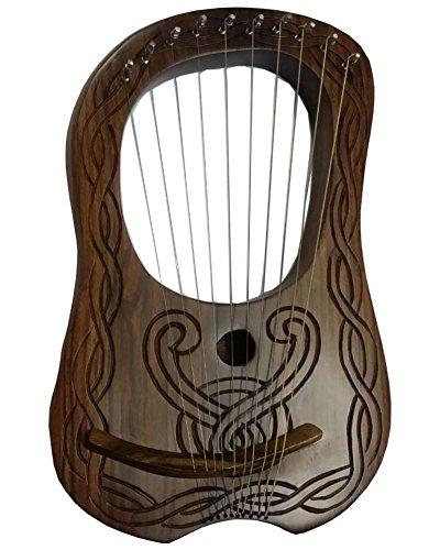 New Lyre Harp Sheesham legno 10corde di