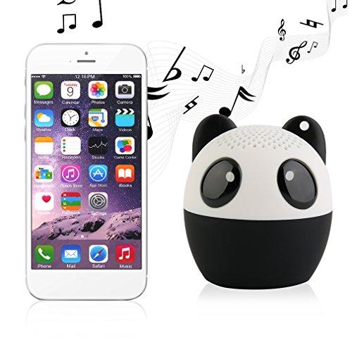 Enceinte Bluetooth, Tsing Mini Enceinte Bluetooth Portable Haut-parleur Bluetooth Audio Enceinte sous la Forme d'Animal 4 Heures à Jouer Parfaitement pour les Sports de Plein Air(Panda)
