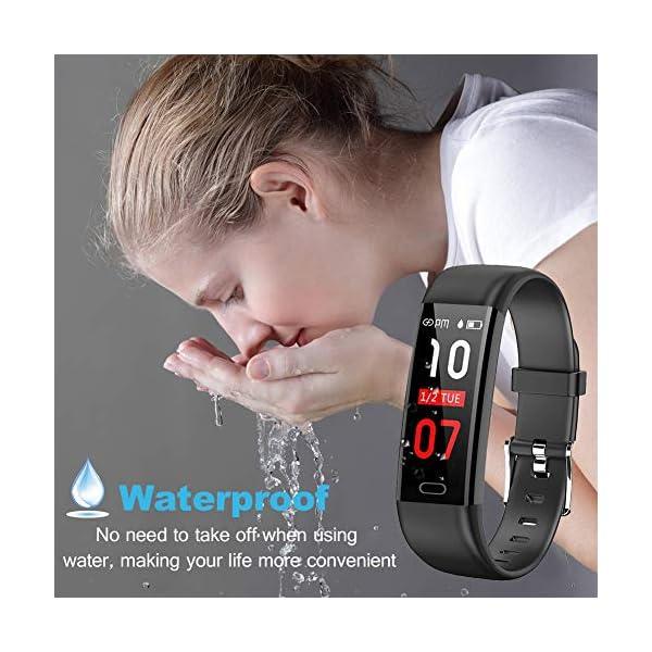 Pulsera Actividad - Reloj Inteligente Monitor de Ritmo Cardíaco Impermeable Fitness Trackers con Monitor de sueño… 3