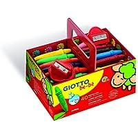 Giotto be-bè 462700 - Pack 40 súper ceras irrompibles de colores y 2 sacapuntas