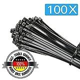 100x Attache Cable | Collier de serrage nylon | Serre Cable | 300 mm x 3.6 mm |...