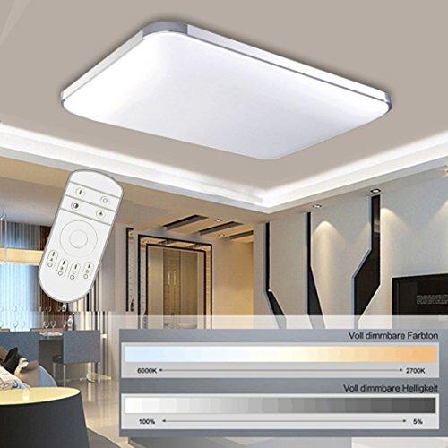Preisvergleich Produktbild HengdaR 48W LED Deckenleuchte Deckenlampe Wohnzimmer Bad Kche Panel Leuchte Dimmbar 2700