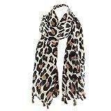 TianWlio Frauen Schals Frauen Neue Herbst klassische Leopard Druck Twill Quaste Mode Frauen Schal Winter Schal