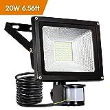 20W LED Strahler mit Bewegungsmelder Fluter Außen...