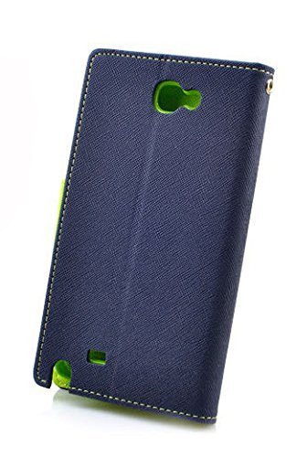 SDO Luxury Mercury Diary Wallet Style Flip Cover Case for Samsung Galaxy Note 2 N7100 (Blue)