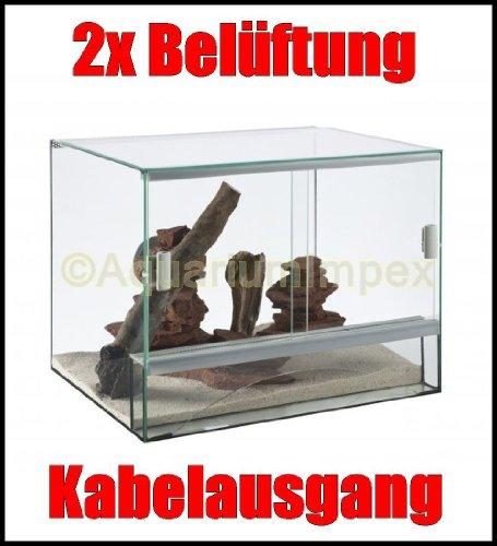 Glas Terrarium mit Belüftung 30x25x25 cm 30 25 (Terrarium Glas)