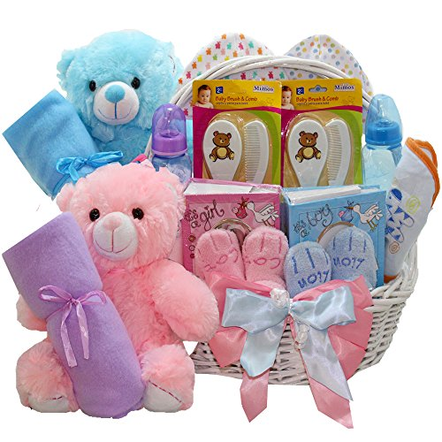 art of appreciation gift baskets double the fun twin new baby gift basket, girl and boy Art of Appreciation Gift Baskets Double The Fun Twin New Baby Gift Basket, Girl and Boy 51TsS6OQgSL