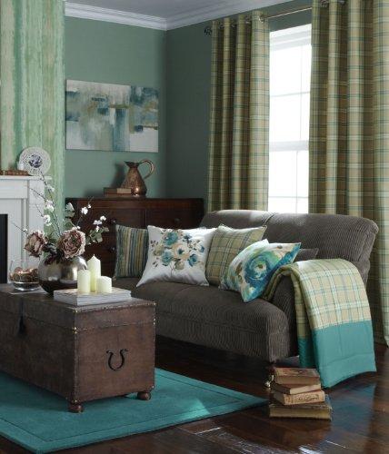 modern-iliv-piazza-cerato-tartan-check-readymade-eyelet-curtains-natural-azure-blue-66-x-72