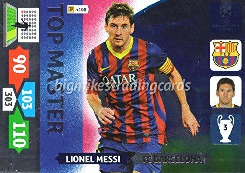 Preisvergleich Produktbild Panini Adrenalyn XL Champions League 2013/14 Lionel Messi Oberteil Master Trading Card - FC Barcelona