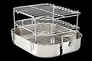 All-Clad Stainless Roti Pan with Multi-tier Rib Rack by All-Clad