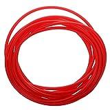 WOVELOT Tubazione Flessibile Del Tubo Del Tubo Del Silicone Del Commestibile 4mm, 5m Rosso
