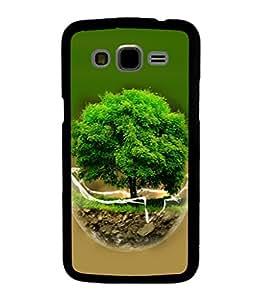 printtech Globe Tree Concept Nature Back Case Cover for Samsung Galaxy J7::Samsung Galaxy J7 J700F