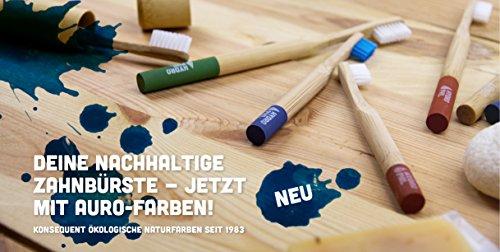 HYDROPHIL nachhaltige Zahnbürste aus Bambus blau extraweich 4er Pack weich - 4