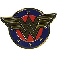 DC COMICS, WONDER WOMAN SHIELD, Officially Licensed Original Artwork - Heavy Duty Metal Sticker DECAL ETICHETTA