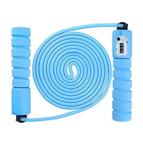 BOIROS Springseil Kinder, Geschwindigkeitsseil, Springseile für Kinder mit Zähler, für Fitness, Gewichtsverlust und Geschwindigkeitstraining (Hellblau)