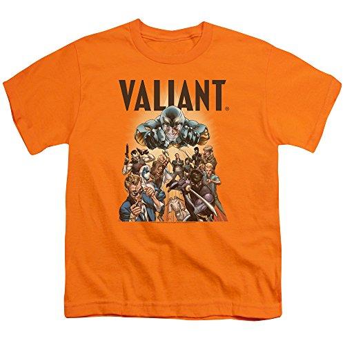 Valiant - Jugend-Pyramide-Gruppen-T-Shirt, X-Large, Orange