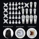 Skareop Wandhaken ohne Spurhaken ABS Material Rahmen Haken Kreuzstich Uhr Fotorahmen Haken 100 Stück weiß