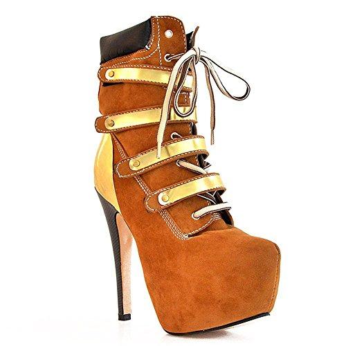 Elobaby Frauen Stiefel Samt Stiletto Spitz Winter Herbst Chunky Dance High Heels (34-46 Größe)