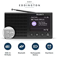 Majority Eddington Lightweight Rechargeable Portable DAB+ and FM Radio with Bluetooth