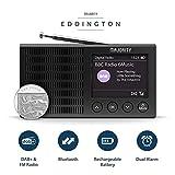 Majority Eddington Lightweight Rechargeable Portable DAB+ and FM Radio with Bluetooth