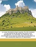 le livre d hnoch sur l amiti tr de l hbreu et accompagn de notes relatives aux antiquits l histoire aux moeurs aux coutumes la langue ainsi qu la littrature des isralites anciens et modernes