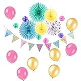 Mix Pastell Party Dekoration Papier Hängedekoration Rosa Gelb