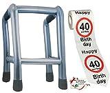 Unbekannt 2 TLG. Set: __ Gehhilfe - ( Aufblasbar ) + Toilettenpapier Rolle -  40. Geburtstag / vierzig und Sexy - Happy Birthday  - lustiger Partyartikel - für  alte..