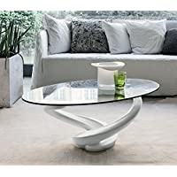 Amazon.it: Tavolino da salotto in cristallo - Tavolini bassi / Tavoli e ...