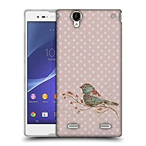 Snoogg Bird Grunge Designer Protective Back Case Cover For Sony Xperia T2 Ultra