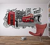 Papier Peint 3D Effet (87 x 48 cm, London 3D Papier Peint Décoration Idées)