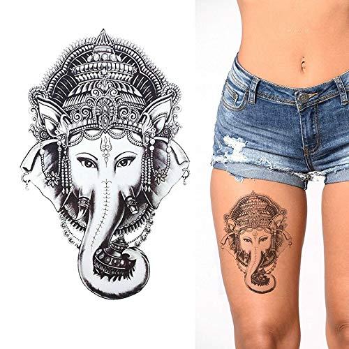tzxdbh Ganesha Elefant temporäre Tätowierung - schwarz wasserdicht Mens Womens Kids Sticker (Tattoos Temporäre Kid)