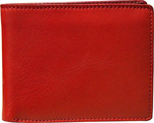 Portafoglio Uomo con Portamonete in Vera Pelle - Rosso - Etabeta Artigiano Toscano - Made in Italy