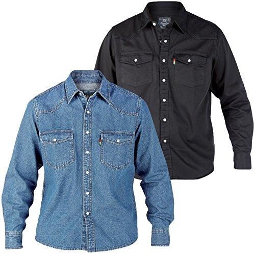 Mens Duke Black Denim Shirt (S-XL)