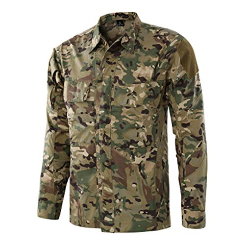 Männer Langarm Uniform Tops Militärische Taktische Shirts Atmungsaktive Kampfarmee Outdoor Sport Shirts Cp L - Leinwand Weites Bein