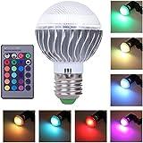 VKTECH® Produits de haute populaires 16 couleurs changeantes 10W 5W magique 6W E27 Ampoule LED RGB avec Télécommande Infrarouge