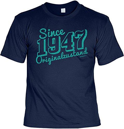 T-Shirt zum 70. Geburtstag Since 1947 Originalzustand Geschenk zum 70 Geburtstag 70 Jahre Geburtstagsgeschenk 70-jähriger Navyblau