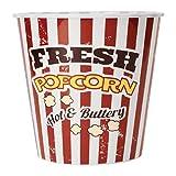 Popcorn Eimer in rot-weiß gestreift - Popcorn XXL Behälter Fresh Popcorn