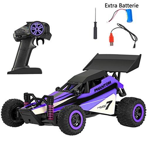 Smibie Coche Control Remoto 2WD 2.4Ghz Auto Radio Control RC Car 1:32 2WD 2.4Ghz de Alta Velocidad con Baterías Recargables para Niños (Violeta)