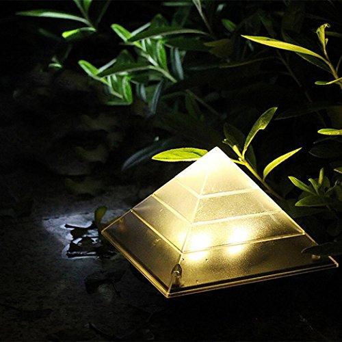 Solar Pyramide Rasen Lampe mamum Pyramid LED Solar Light Outdoor unter Boden begraben Rasen Path Lampe Decor Einheitsgröße warmweiß