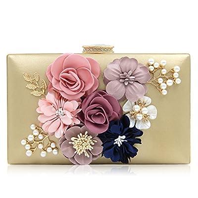 Milisente Women Clutch Bag Flower Evening Bag Handbag Wedding Clutch Purse