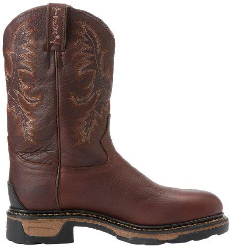 Tony Lama 1009 Large Cuir Chaussures de Travail Dark Brown