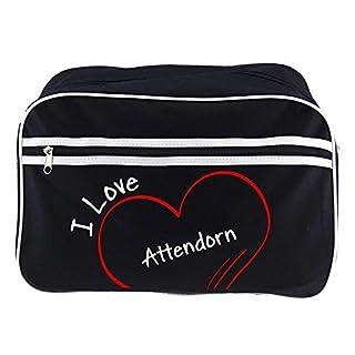 Retro Shoulder Bag Fashionable I Love Atten Bolt Black