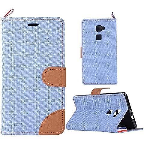 Denim-Tessuto Cover per Huawei Mate S Cowboy tessuti tessuto Jeans