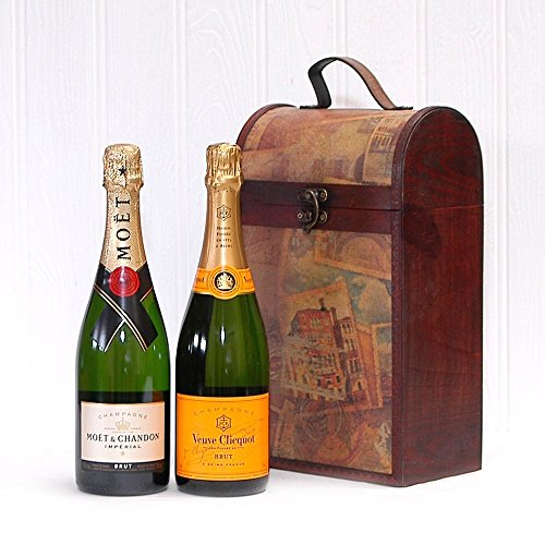 vintage-champagne-box-moet-et-chandon-and-veuve-clicquot-yellow-label-champagne-ideas-for-birthday-w