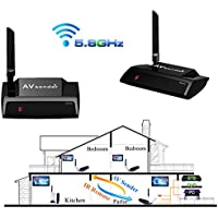 A26 5.8 G 300 M HDMI AV Wireless Audio Video transmisor receptor Loop Out STB PC
