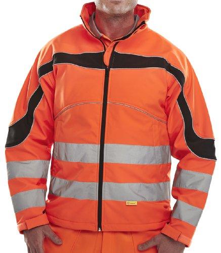 ETON Hi-VIZ Softshell-Jacke, orange/schwarz, 6XL (Orange Safety Jacke)